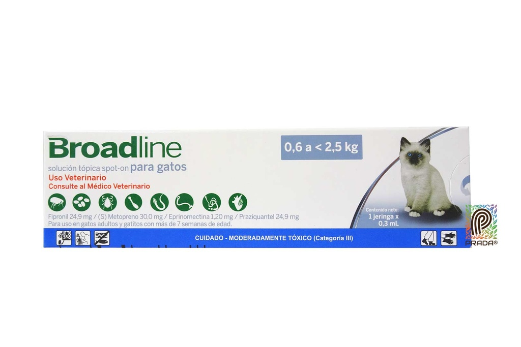 BROADLINE CAT SMALL TOPICO 0.6 A 2.5KG